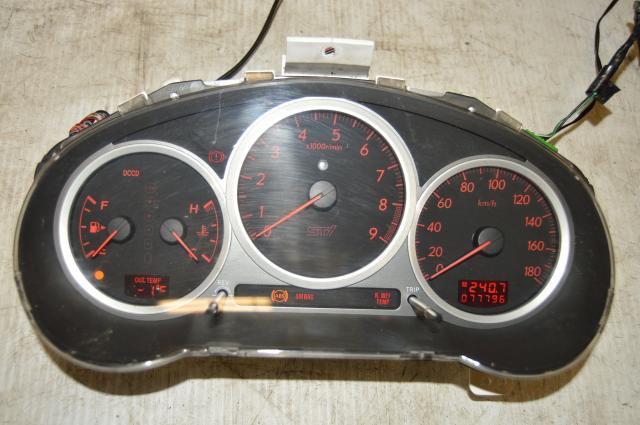 Used JDM Subaru V8 DCCD Manual Instrument Gauge Cluster Assembly 180 KM/h