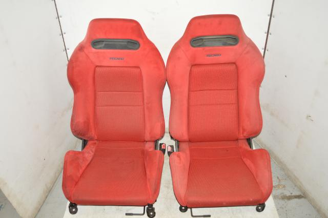 JDM Honda / Acura RECARO Red DC2 Front Left & Right Seats