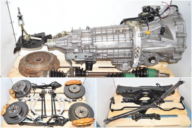 Used Subaru STi Version 7 TY856WB1CA 2002-2007 LSD 6-Speed Transmission with 5x100 Hubs, Brembo Calipers, Driveshaft, R180 Diff & Axles for Sale