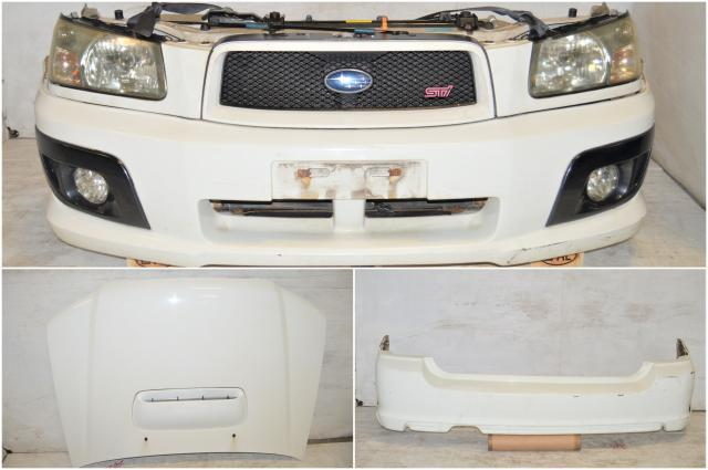 JDM  SG5 Subaru Forester STi Nose Cut, Front & Rear Bumper Cover, Headlights, Fenders & Sideskirts for Sale
