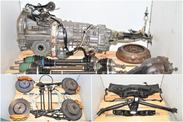 JDM WRX STi TY856WB6KA 6-Speed LSD 2002-2007 DCCD Transmission with 5x100 Hubs, Brembos, 6MT Driveshaft & R180 Rear Diff