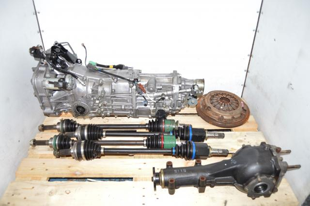 JDM WRX 2006+ Push-Type 4.11 Transmission Swap with Rear Matching Diff, GD Axles & Used Clutch Assembly