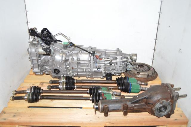 WRX GD 2006-2014 4.11 JDM Transmission with Rear Diff, Axles & Push Type Clutch