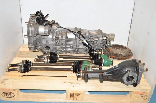 JDM WRX 2002-2005 Replacement 5 Speed Manual Transmission with GDA Axles, Rear 4.444 LSD & Clutch