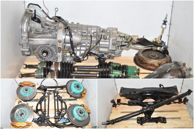 Used WRX STi 2002-2007 6-Speed Version 7 Transmission Swap with 5x100 Hubs, Brembos, Lateral Links & R180 Rear Diff