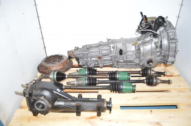 Used JDM WRX 2002-2005 Replacement 5 Speed Manual Transmission with Matching 4.11 Rear Differential, Axles & Clutch