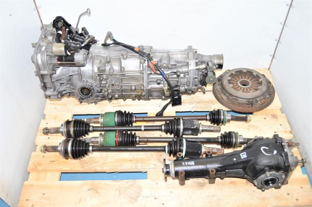 WRX 2002-2005 Used JDM 5-Speed Manual Transmission with Matching 4.444 Rear LSD, GD Axles & Clutch