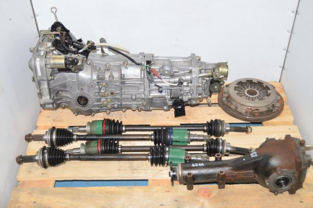 Used Subaru WRX GDA 2002-2005 Replacement 5-Speed Manual Transmission with Matching 4.444 Rear Differential for Sale