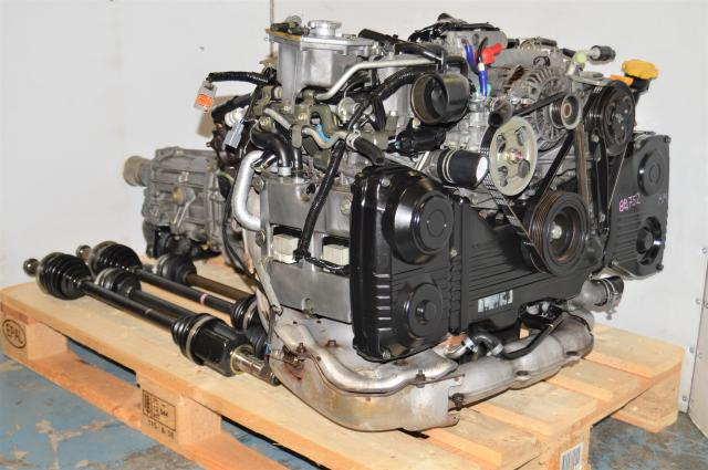 JDM Subaru WRX 2002-2005 EJ205 AVCS Engine with 5-Speed GDA Manual Transmission & Matching Rear 4.444 Differential