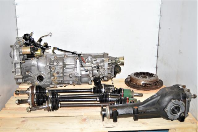 Used JDM GDA WRX 2.0L 5 Speed Manual Replacement Transmission with Matching 4.444 Rear LSD Differential for Sale
