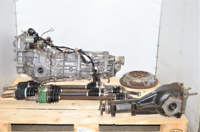 JDM WRX 2002-2005 5 Speed Manual Transmission with GDA Axles, Used Clutch & 4.444 Rear Diff