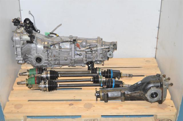 JDM Used Subaru WRX 2006+ Push Type Transmission Swap with GDA Axles & Matching Rear 4.11 Diff