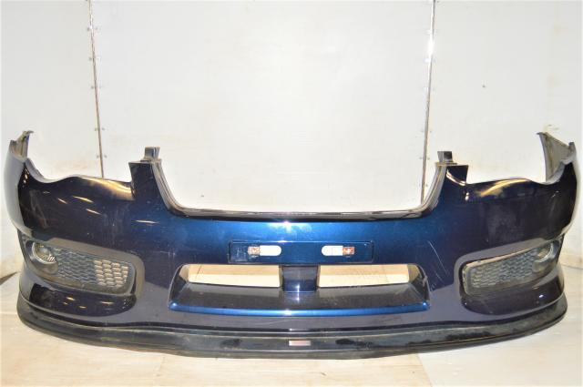 JDM Subaru Legacy BP9 Front Bumper Cover with OEM STi Lip & Spec-B Foglight Assembly & Mesh Inlets for Sale