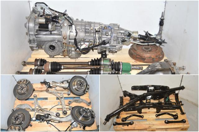 Used Subaru JDM Legacy Spec-B 6-Speed Transmission Swap with Rear Subframe, Axles, Brake Assembly, Control Arms & R180 Differential