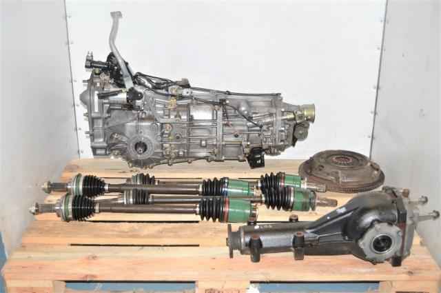 Used Subaru JDM Dual-Range Push-Type 5-Speed Manual with GDA Axles and Rear 4.11 Matching Differential
