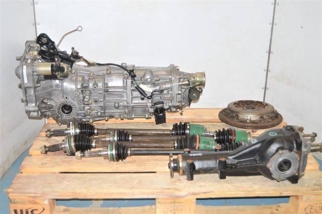 Used Subaru 5-Speed WRX 2002-2005 Manual Transmission with 4.444 Rear Differential, Axles & Clutch Assembly