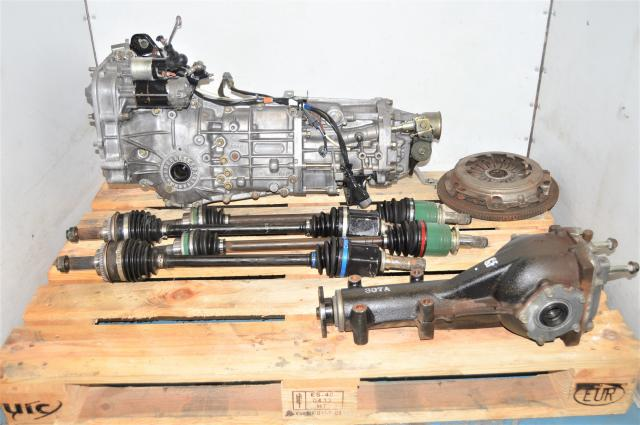 5-Speed WRX Manual GDA 2002-2005 Transmission with 4 Corner Axles & Used Clutch for Sale