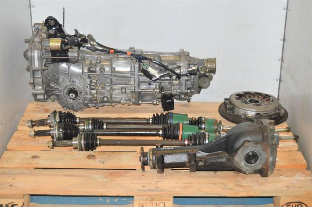 Used JDM 5 Speed Manual GDA WRX 2002-2005 5MT Replacement Swap for Sale with Axles & Rear 4.444 Differential