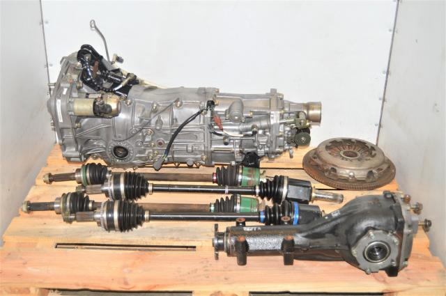 Used Subaru WRX 2002-2005 GDA Transmission (5MT) with Axles, Used Clutch & Rear 4.444 LSD Differential for Sale
