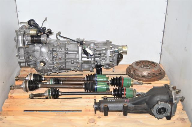 2002-2005 Used JDM Subaru 5-Speed Manual Transmission with Clutch, GDA Axles & Rear 4.444 Differential