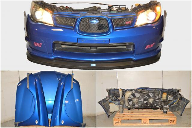 Used Hawkeye Version 9 WRB Front End Conversion with STi Front Lip, Fenders, Hood with Scoop, HID Headlights & Rad Support for Sale