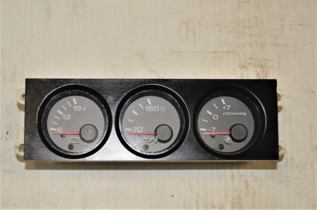 Used Nissan R32 GTR Interior Oil Temp, Boost & Voltage Meter Gauges for Sale