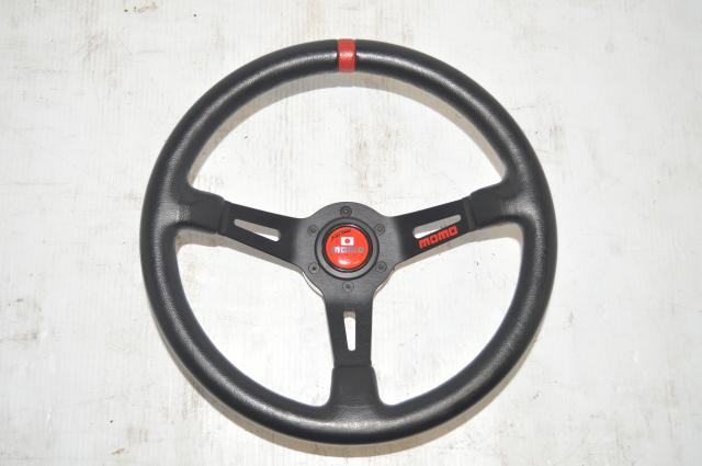 Used JDM Subaru GDB STi 2002-2007 Momo Racing Quick Release Steering Wheel with Adapter for Sale