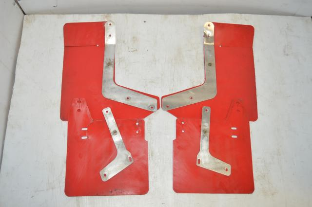 Used JDM Subaru GD WRX STi 2002-2007 Red Mudflaps for Sale
