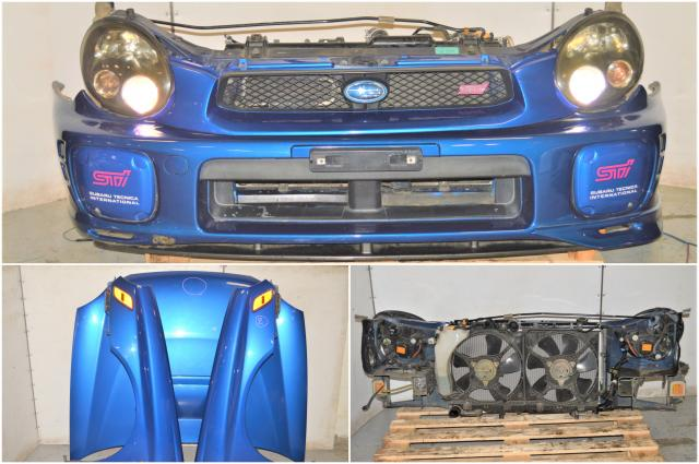 Used JDM Version 7 V Limited Bugeye WRB Front End Conversion with HID Headlights, Fenders with Sidemarkers, Rad Support, Hood & Front Bumper with Lip for Sale