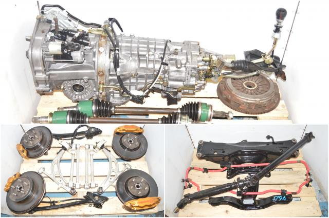 Used Subaru TY856WB7KA Version 8 02-07 5x114.3 6-Speed Transmission Package for Sale with Brembos, Hubs, Driveshaft, Axles & Rear Differential for Sale
