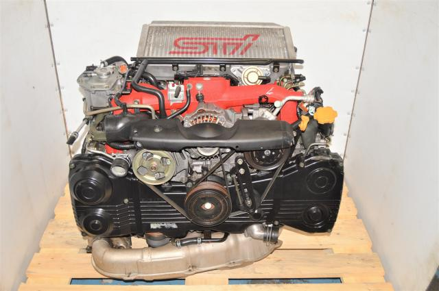 Used JDM Subaru WRX STi 2002-2007 Twin Scroll Version 8 EJ207 DBC Engine Swap with Intercooler for Sale