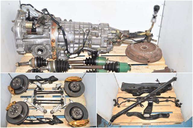 Used Subaru Version 7 STi GDB 2002-2007 TY856WB1CA 6-Speed Swap with 5x100 Hubs, Brembos, Axles, Control Arms & R180 3.9 Final Drive Rear Differential