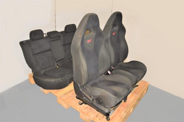 Used JDM Subaru Forester STi 03-08 SG5 SG9 Front RHD Seats & Rear Bench Seats with Rails for Sale
