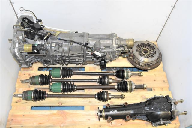 Used Replacement JDM WRX GDA 2002-2005 5-Speed Manual Transmission with Axles, Rear R160 Differential & Clutch for Sale