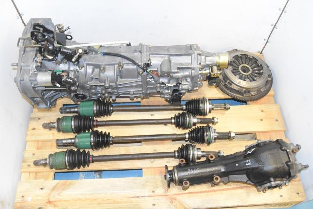 Replacement JDM WRX 5-Speed Manual Transmission with 4.444 Gear Ratio & Axles for Sale