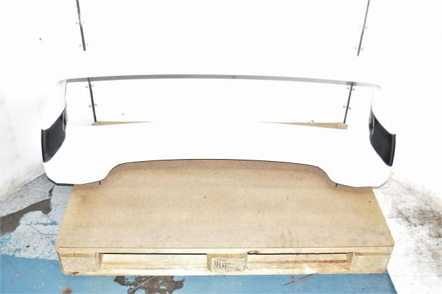 Used JDM Subaru WRX STi 2002-2007 GDB White Spoiler Assembly with Monster Brand Risers for Sale