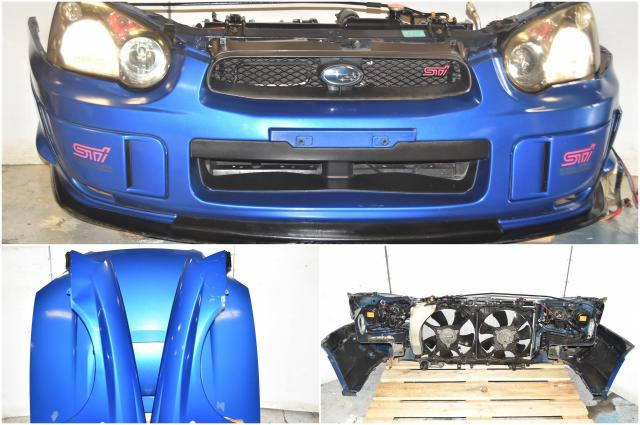Used Version 8 STi WRB Front End Conversion with HID Headlights, Foglight Covers, Fenders, Hood, Rad Support & Lip