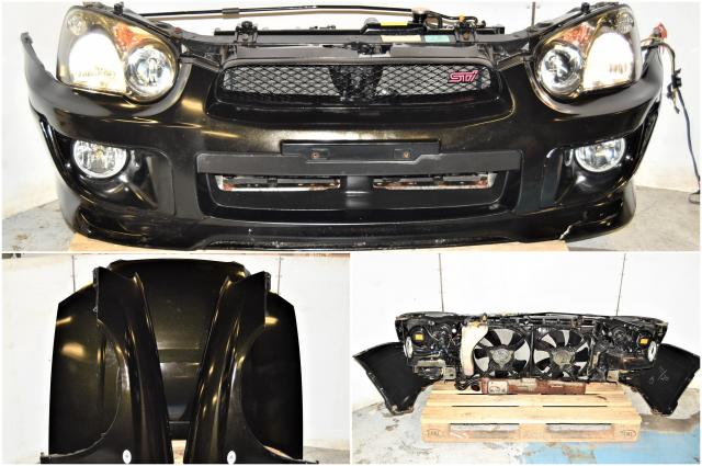 Used Subaru Version 8 2004-2005 Blobeye STi Black Front End Conversion with STi Hood, Fenders, HID Headlights, Foglights & Rad Support for Sale