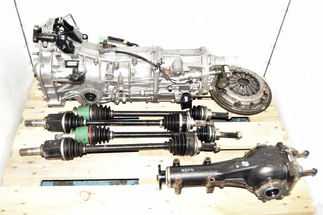 Used Subaru WRX 2006+ Push-Type 5 Speed Manual Transmission Swap with Axles, Rear 4.11 Differential & Clutch for Sale