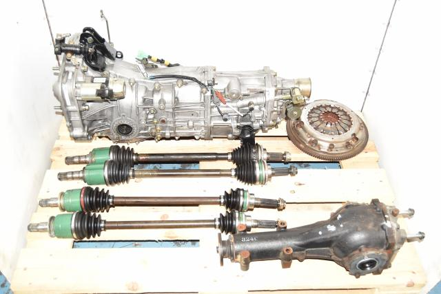 2006-2014 Replacement JDM 5-Sped Manual WRX Transmission with Matching 4.11 Rear Differential, GDA Axles & Used Clutch