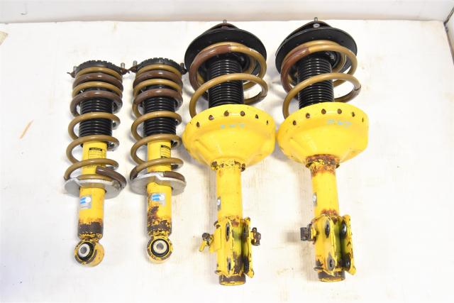 JDM Subaru Legacy GT Yellow Bilstein Suspensions with Aftermarket TEIN Coilsprings for Sale