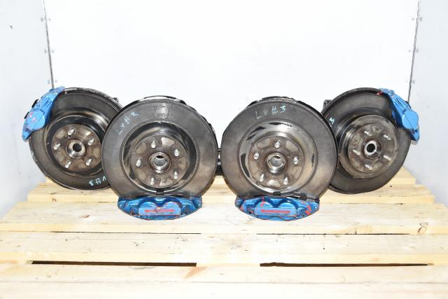 Used Subaru JDM 4 Pot / 2 Pot Brake Kit with GDA 5x100 Hubs for Sale