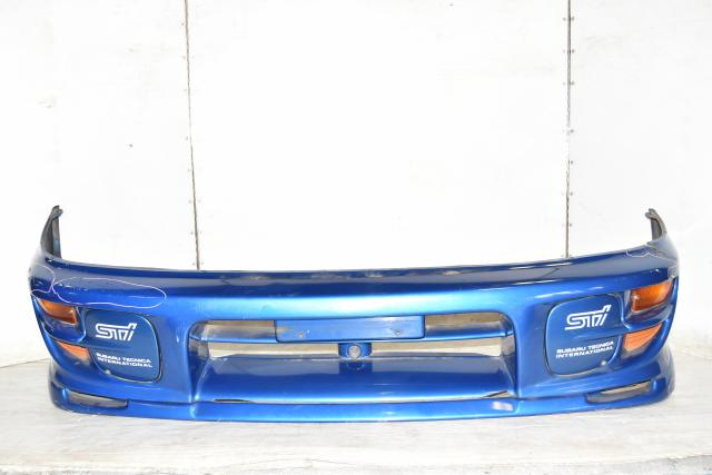 Used JDM Subaru WRB GC8 Front Bumper Cover for Sale with Foglight Covers & Front Corner Light Reflectors