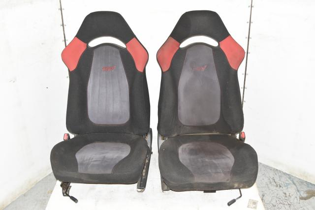 JDM Used JDM RHD Front Left & Right Red / Gray GC8 Seats for Sale 94-01