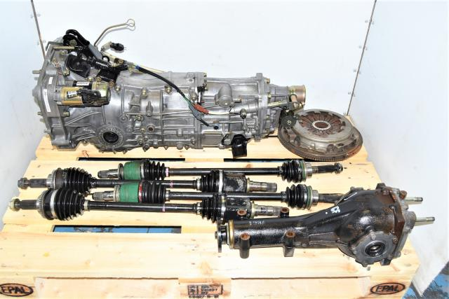 Used JDM 5 Speed GDA WRX 2002-2005 Manual Transmission Swap with Rear 4.444 Differentials, Axles & Clutch Assembly