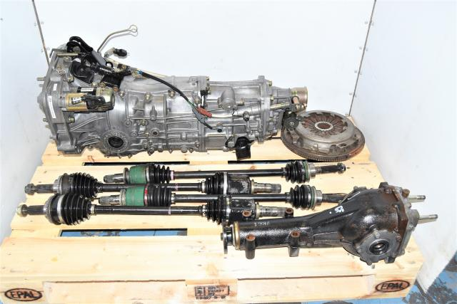 JDM Subaru Manual 5-Speed Transmission Swap 2002-2005 WRX 4.444 Final Drive with Axles & Clutch