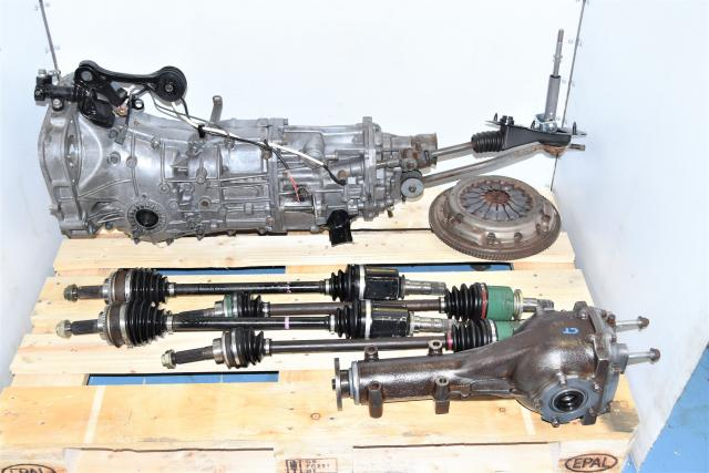 Used Impreza, Forester, Crosstrek 2013 Push Type USDM Replacement Transmission with Rear Differential, Axles & Clutch Assembly