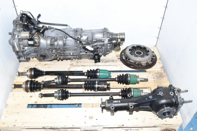 Used JDM Replacement 5 Speed Manual Transmission with 4.11 Rear Differential, Axles with Flywheel & Pressure Plate
