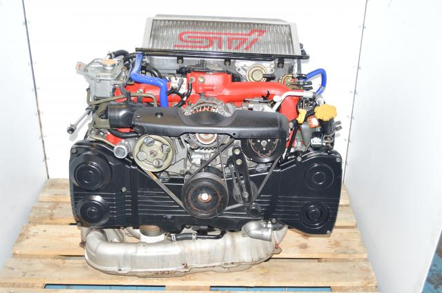 Used Subaru GDB STi Version 8 DOHC 2002-2007 EJ207 2.0L DBC Engine Swap for Sale with Intercooler