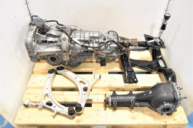 Used Subaru 2008-2014 STi 6-Speed Transmission TY856UW1MA with 3.54 Rear Differential, Driveshaft & Control Arms